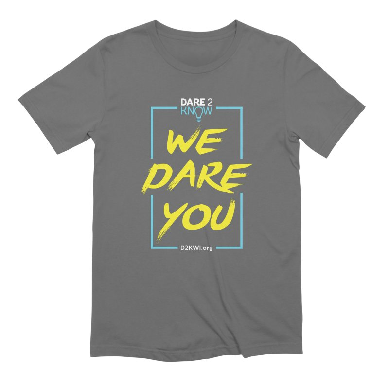 Dare2Know Vertical Blue Outline Men's Extra Soft T-Shirt by Dare2Know's Artist Shop