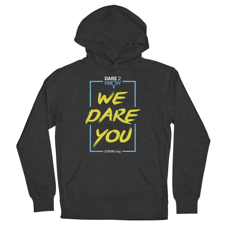 Dare2Know Vertical Blue Outline Men's French Terry Pullover Hoody by Dare2Know's Artist Shop