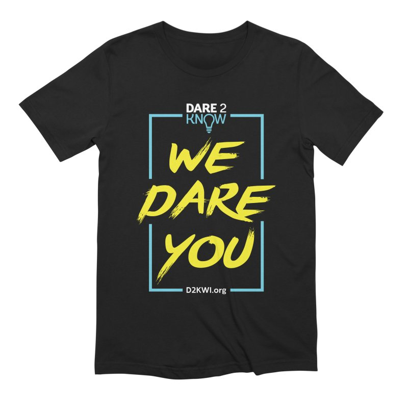 Dare2Know Vertical Blue Outline Men's T-Shirt by Dare2Know Store