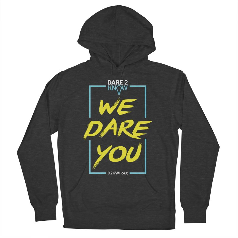Dare2Know Vertical Blue Outline Women's French Terry Pullover Hoody by Dare2Know Store