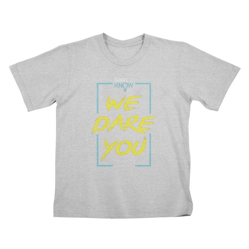 Dare2Know Vertical Blue Outline Kids T-Shirt by Dare2Know Store