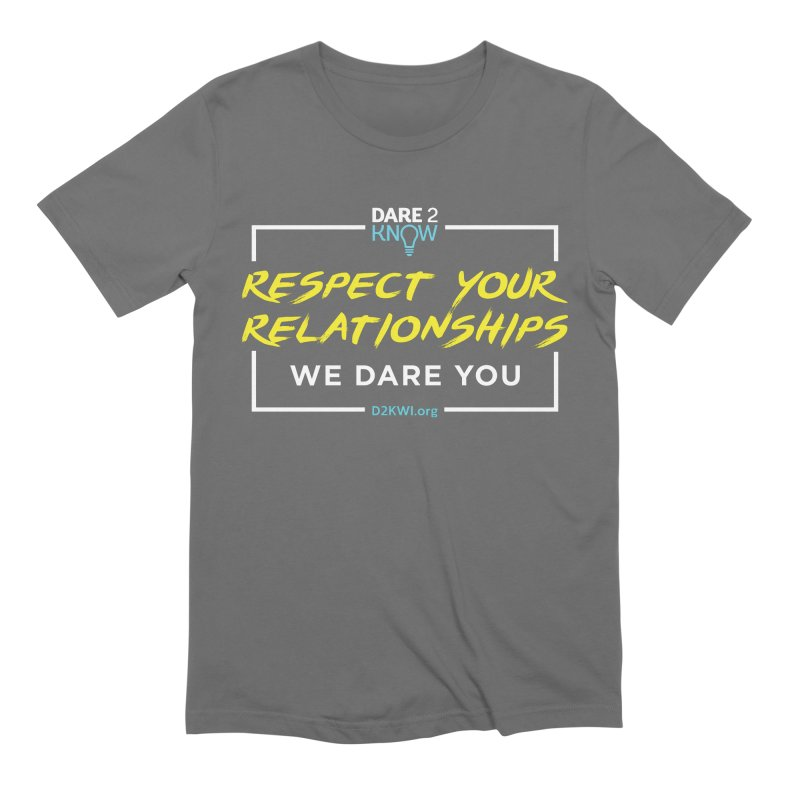 Dare2Know Square White Outline Men's T-Shirt by Dare2Know Store