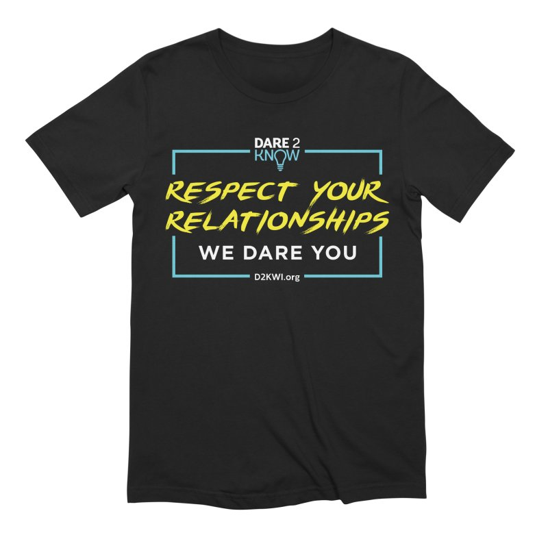 Dare2Know Square Blue Outline Men's Extra Soft T-Shirt by Dare2Know's Artist Shop