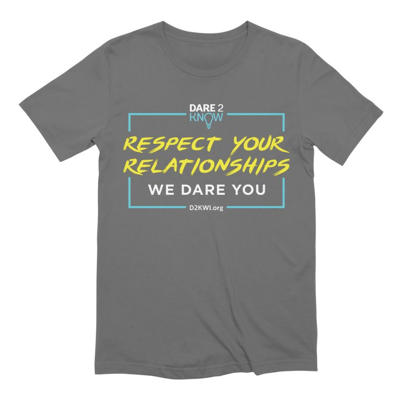 Dare2Know Square Blue Outline Men's T-Shirt by Dare2Know Store