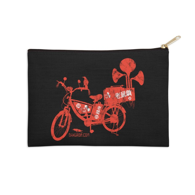 Riding Bikes & Playing Records Accessories Zip Pouch by DarkGarden