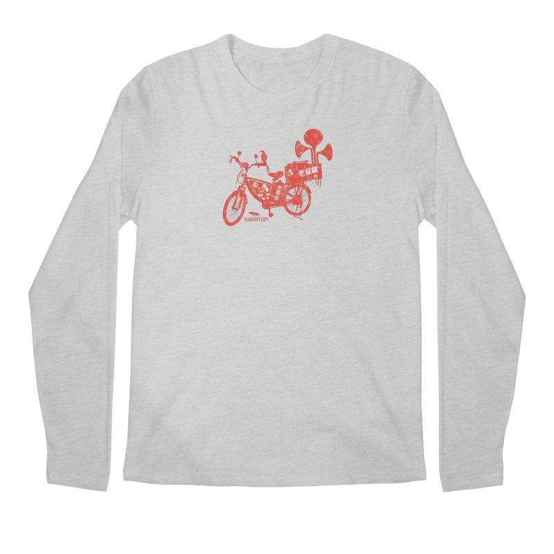 Riding Bikes & Playing Records Men's Regular Longsleeve T-Shirt by DarkGarden