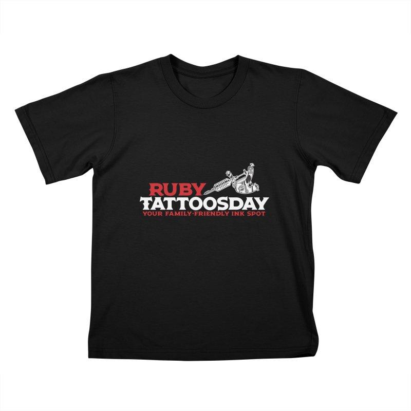 Ruby Tattoosday - Black Kids T-Shirt by DarkGarden
