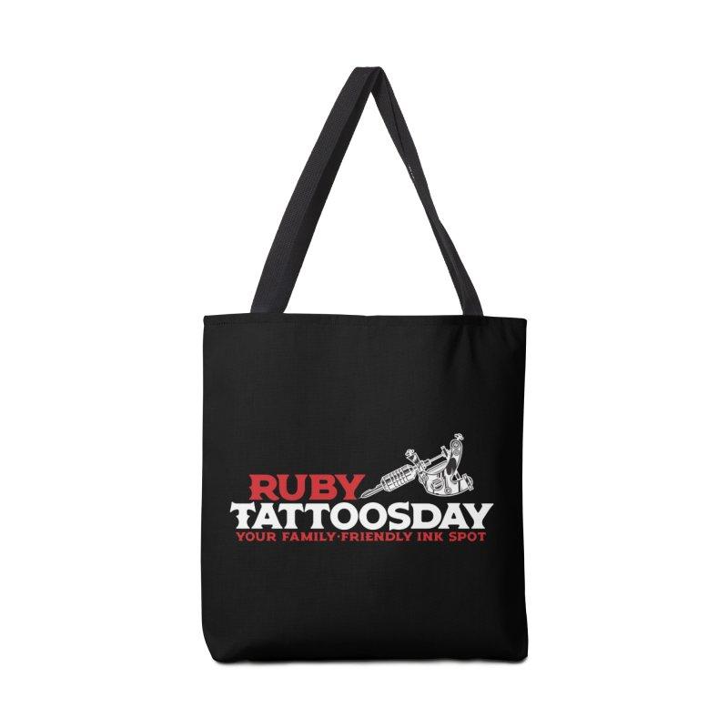 Ruby Tattoosday - Black Accessories Bag by DarkGarden