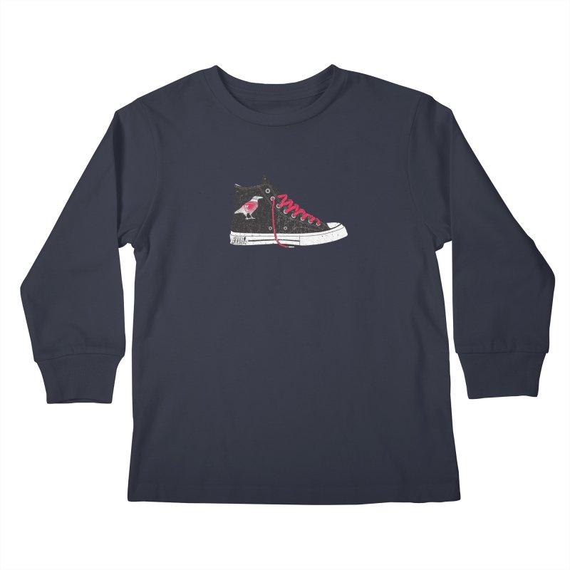Con Job Kids Longsleeve T-Shirt by DarkGarden