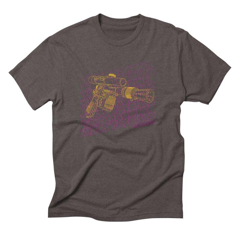 THIS MACHINE KILLS FASCISTS (BLASTER) Men's Triblend T-Shirt by Dave Tees
