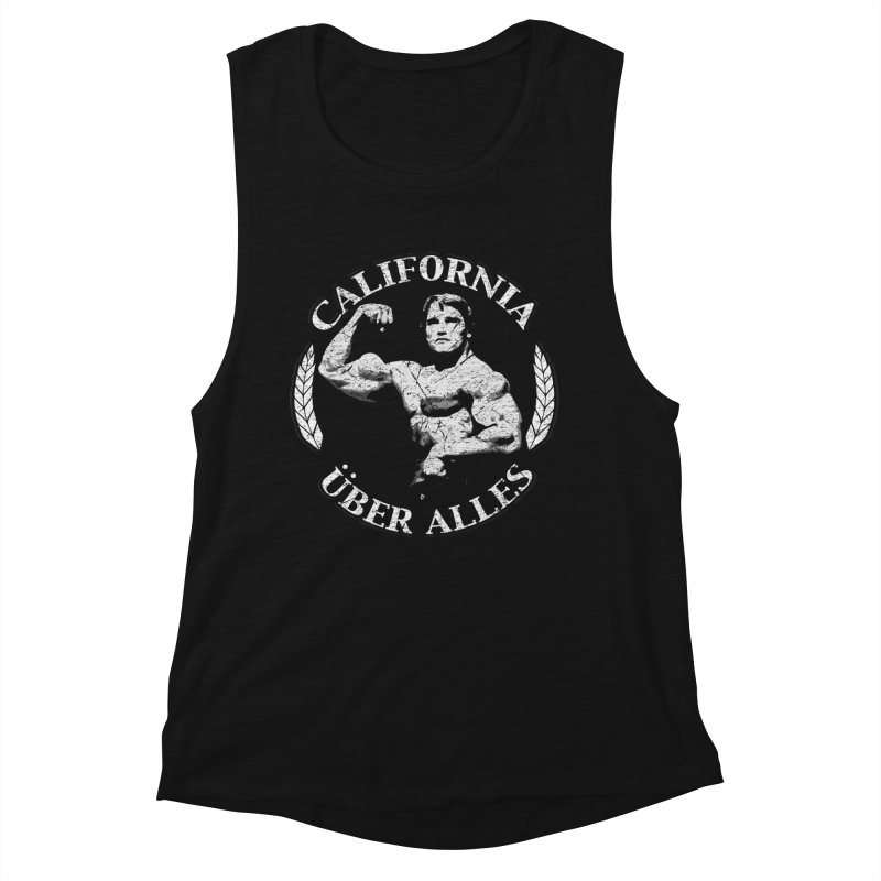 California Über Alles Women's Muscle Tank by Dave Tees