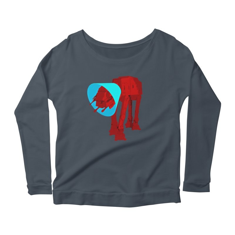 AT-AT BooBoo Women's Longsleeve Scoopneck  by Dave Tees