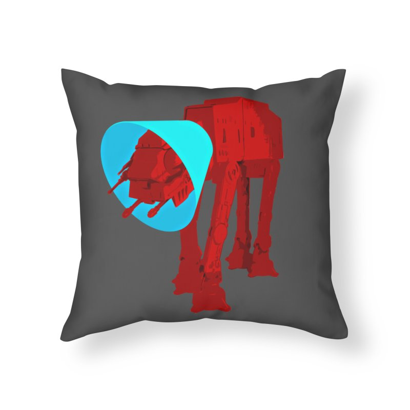 AT-AT BooBoo Home Throw Pillow by Dave Tees