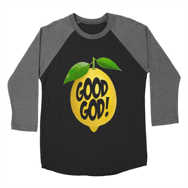 Good God, Lemon! Men's Baseball Triblend Longsleeve T-Shirt by Dave Tees