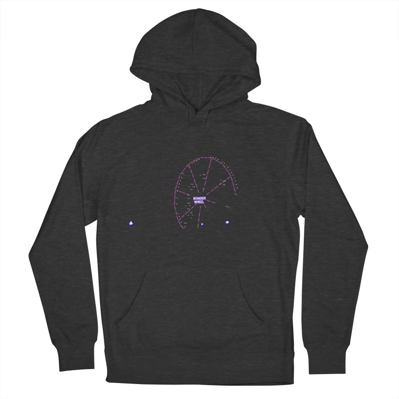 Warriors Wonder Wheel Men's French Terry Pullover Hoody by Dave Tees