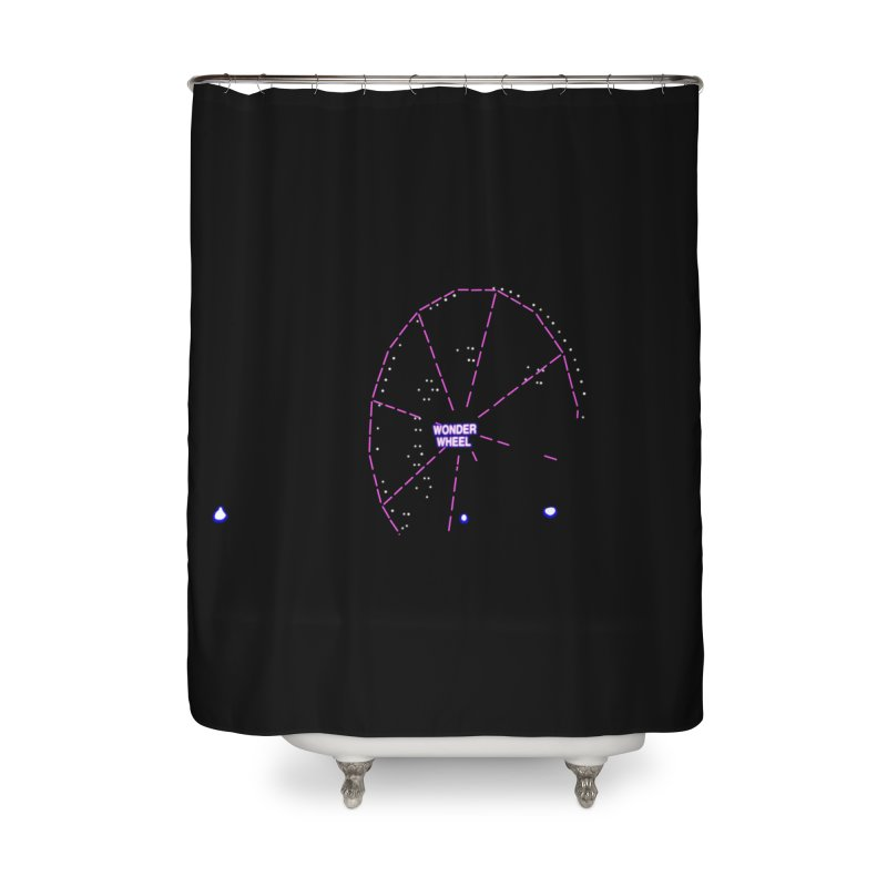 Warriors Wonder Wheel Home Shower Curtain by Dave Tees