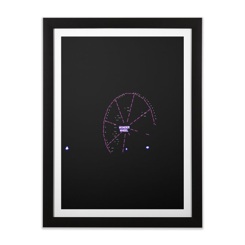 Warriors Wonder Wheel Home Framed Fine Art Print by Dave Tees