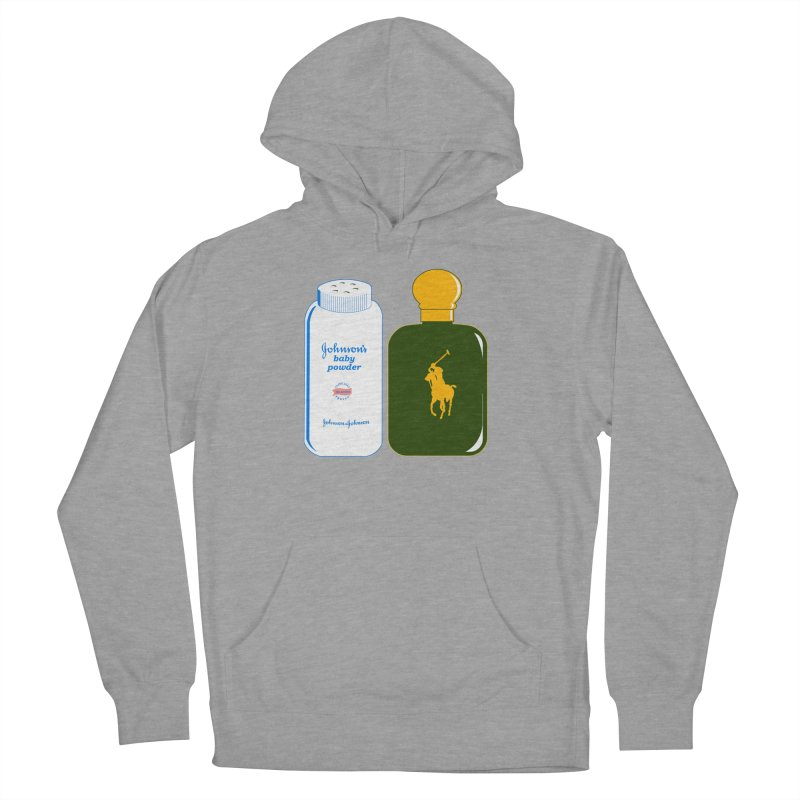 The Johnson's Baby Powder and The Polo Cologne Men's French Terry Pullover Hoody by Dave Tees