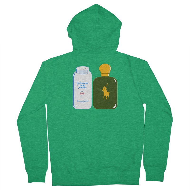 The Johnson's Baby Powder and The Polo Cologne Men's French Terry Zip-Up Hoody by Dave Tees