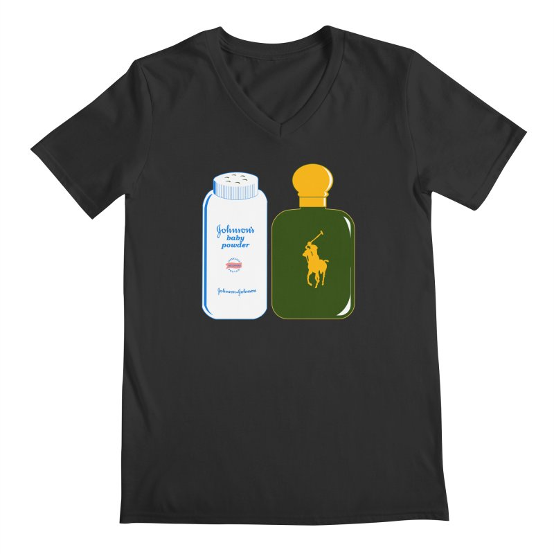 The Johnson's Baby Powder and The Polo Cologne Men's V-Neck by Dave Tees