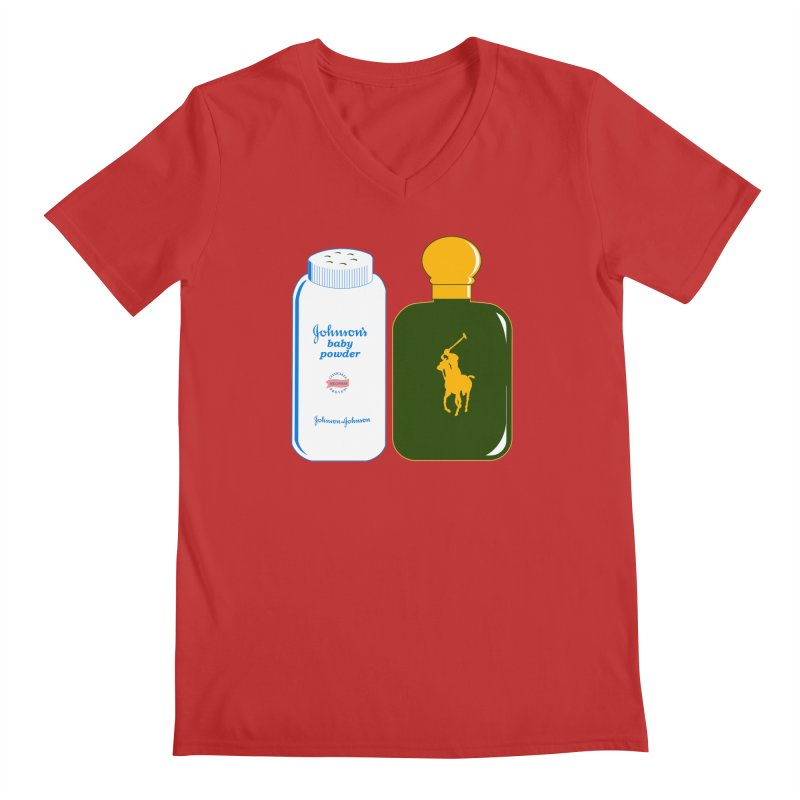 The Johnson's Baby Powder and The Polo Cologne Men's Regular V-Neck by Dave Tees