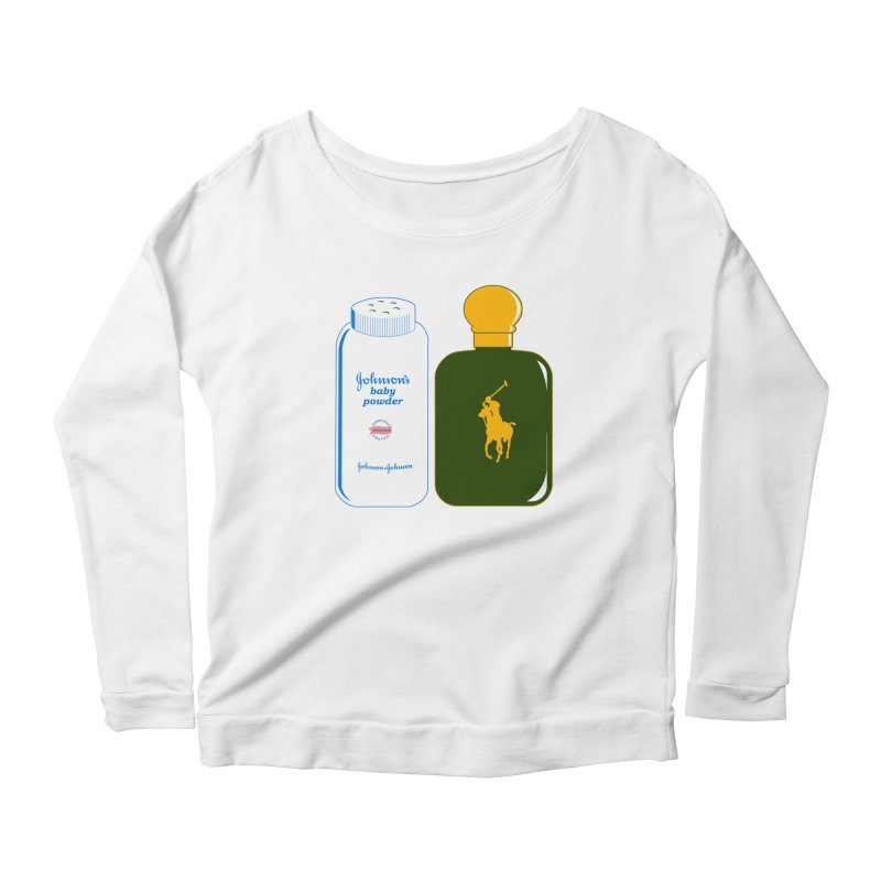 The Johnson's Baby Powder and The Polo Cologne Women's Longsleeve Scoopneck  by Dave Tees
