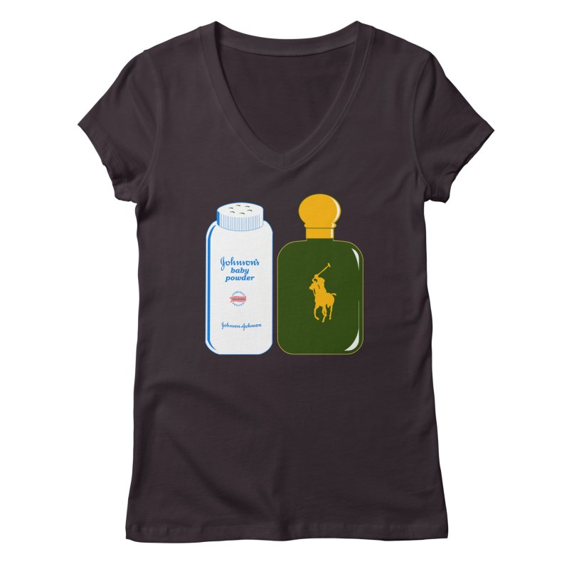 The Johnson's Baby Powder and The Polo Cologne Women's Regular V-Neck by Dave Tees