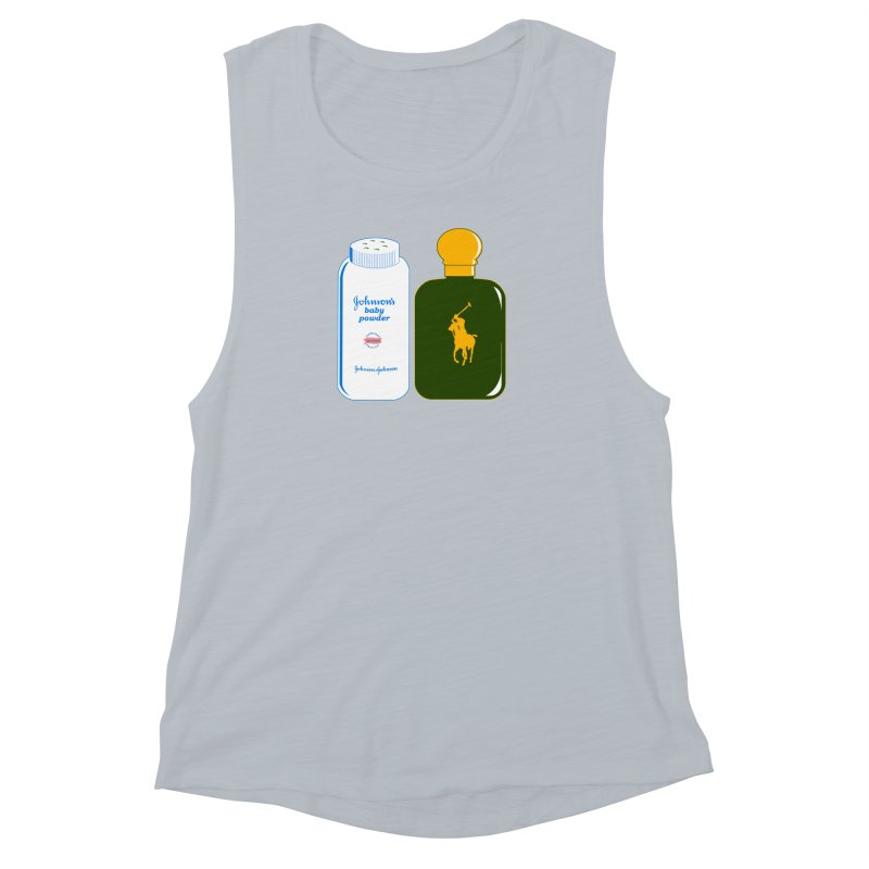 The Johnson's Baby Powder and The Polo Cologne Women's Muscle Tank by Dave Tees