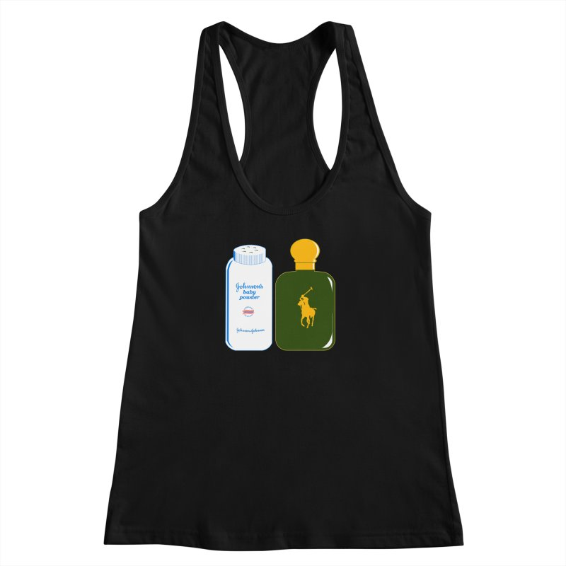 The Johnson's Baby Powder and The Polo Cologne Women's Racerback Tank by Dave Tees