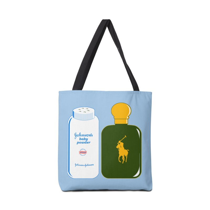 The Johnson's Baby Powder and The Polo Cologne Accessories Tote Bag Bag by Dave Tees