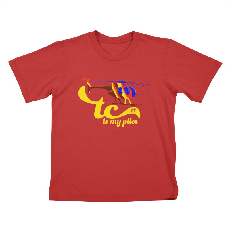 TC is My Pilot Kids T-Shirt by Dave Tees