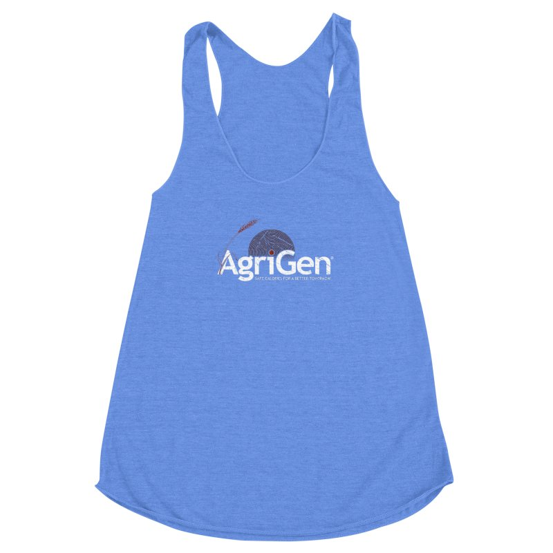 AgriGen (from The Windup Girl) Women's Racerback Triblend Tank by Dave Tees