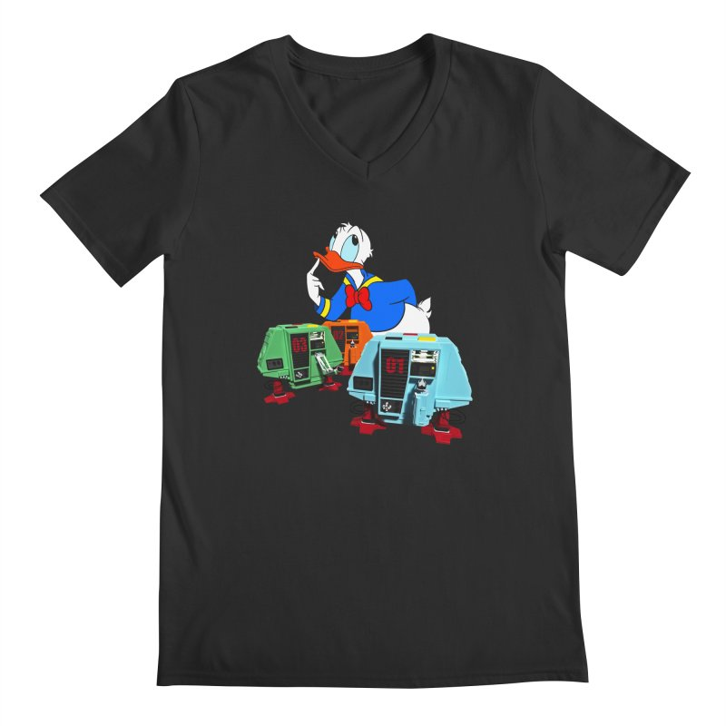 Whoey? Dewey and Louie? Men's Regular V-Neck by Dave Tees