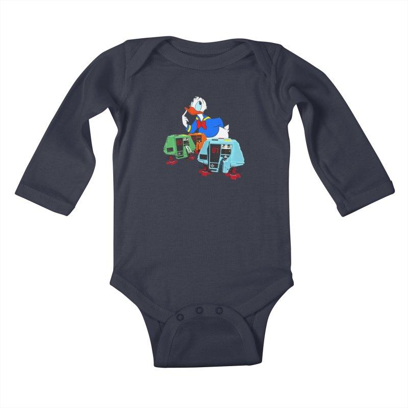 Whoey? Dewey and Louie? Kids Baby Longsleeve Bodysuit by Dave Tees