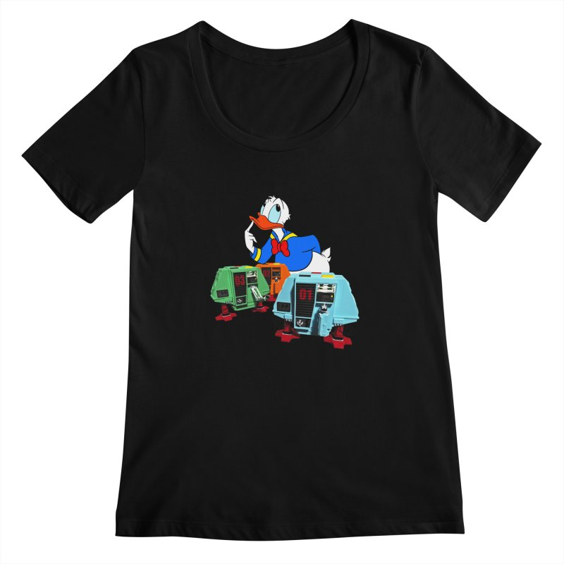 Whoey? Dewey and Louie? Women's Scoopneck by Dave Tees