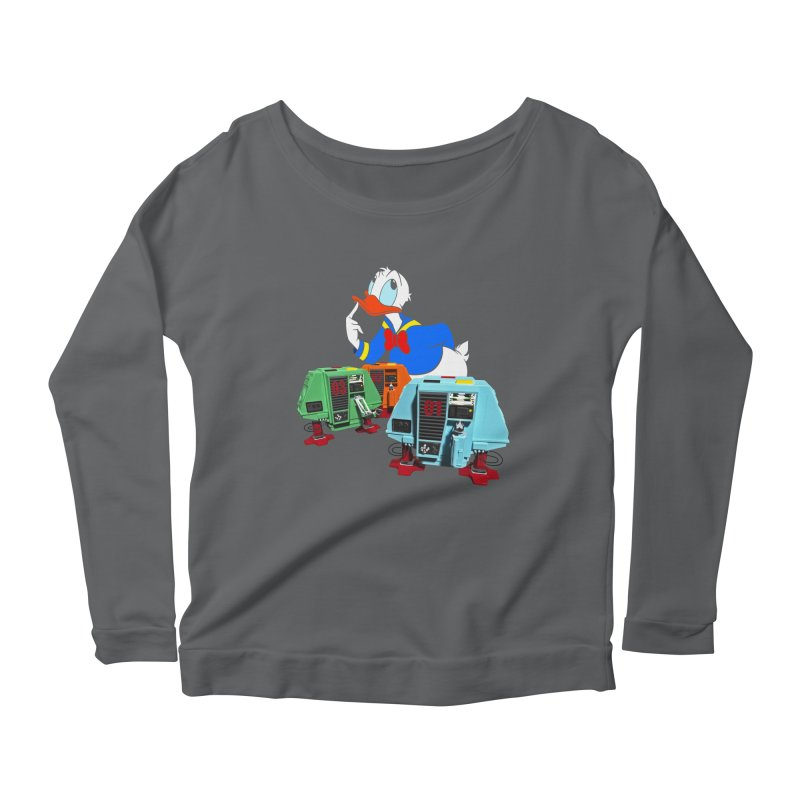 Whoey? Dewey and Louie? Women's Longsleeve Scoopneck  by Dave Tees