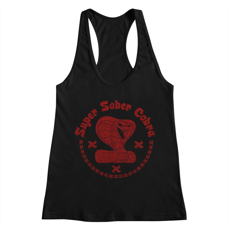 Super Sober Cobra Women's Racerback Tank by Dave Tees