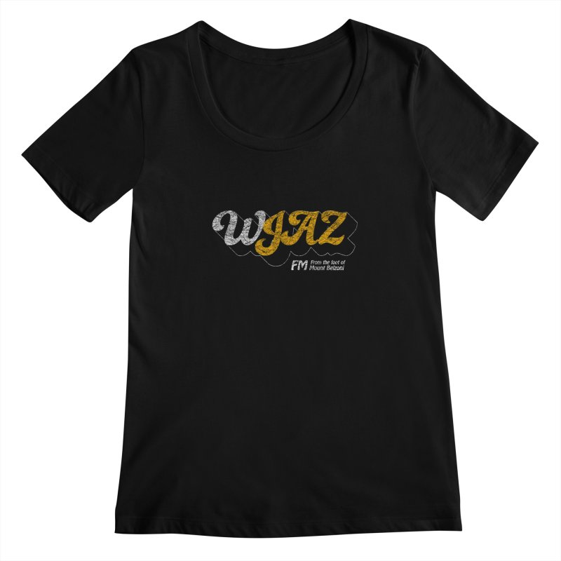WJAZ from the foot of Mount Belzoni Women's Scoopneck by Dave Tees