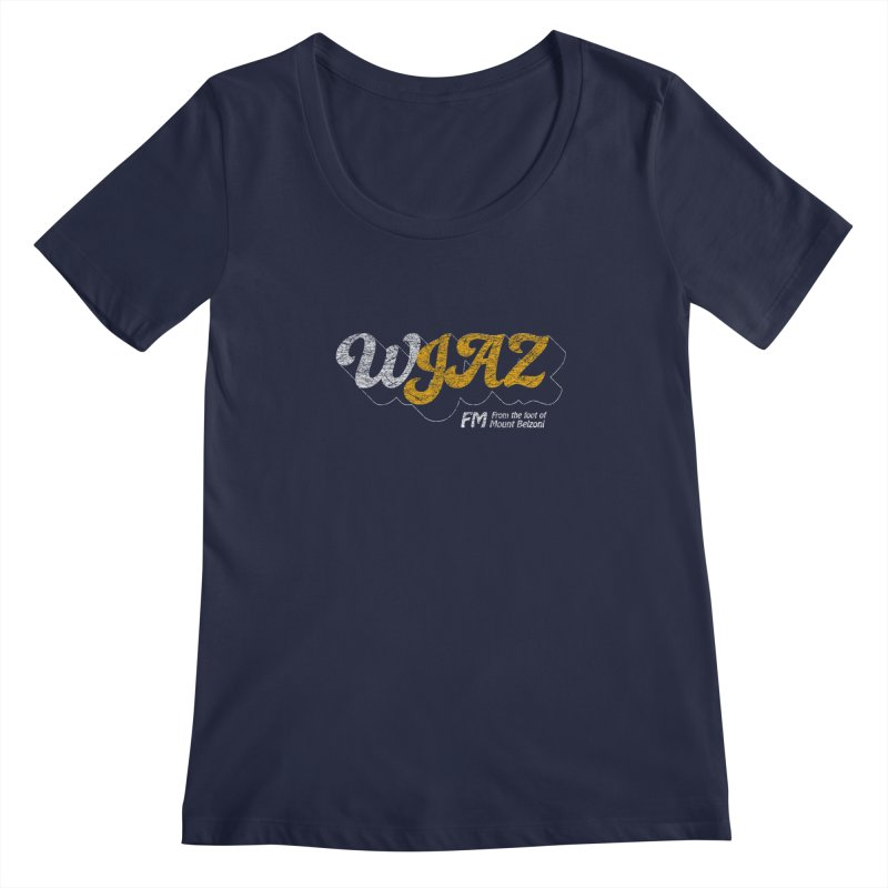 WJAZ from the foot of Mount Belzoni Women's Regular Scoop Neck by Dave Tees