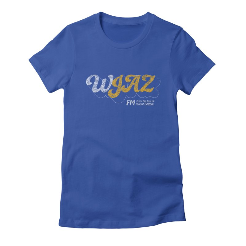 WJAZ from the foot of Mount Belzoni Women's Fitted T-Shirt by Dave Tees