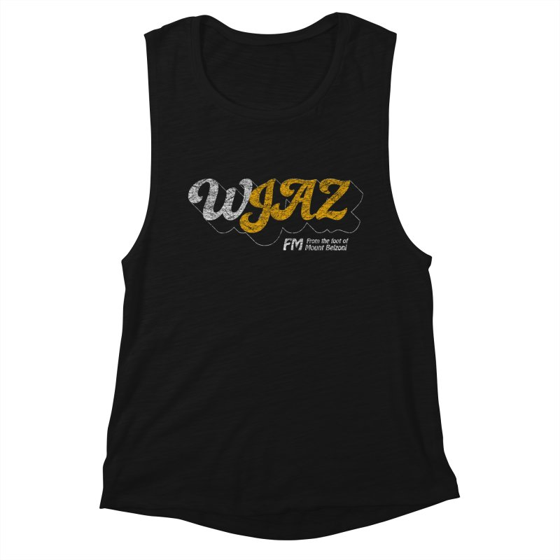 WJAZ from the foot of Mount Belzoni Women's Muscle Tank by Dave Tees