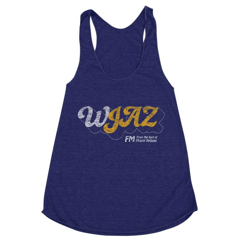 WJAZ from the foot of Mount Belzoni Women's Racerback Triblend Tank by Dave Tees
