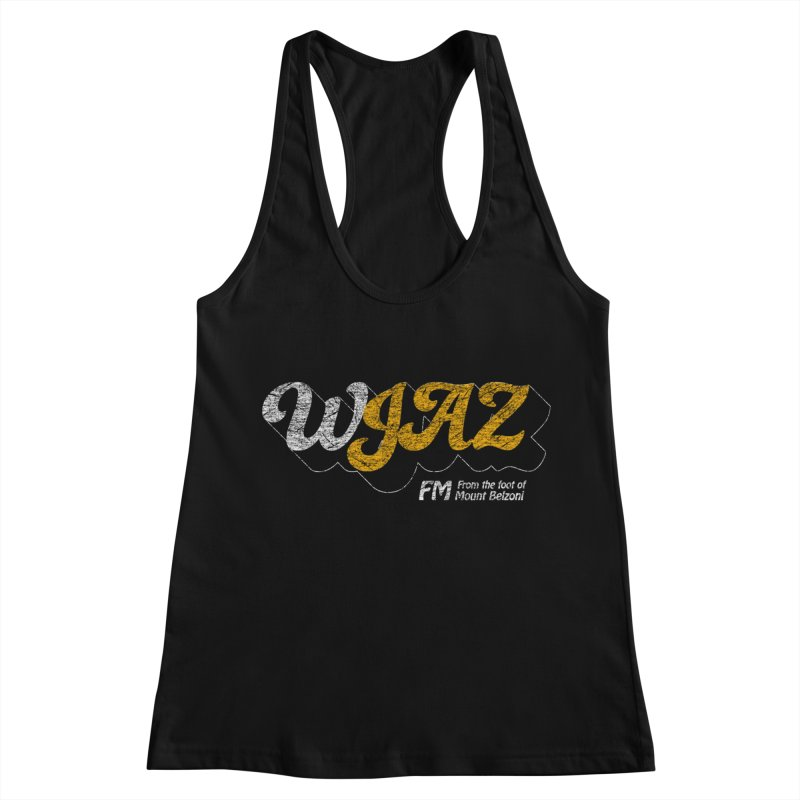 WJAZ from the foot of Mount Belzoni Women's Racerback Tank by Dave Tees