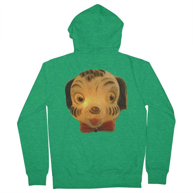 Puppy Head Men's Zip-Up Hoody by Dave Calver's Shop