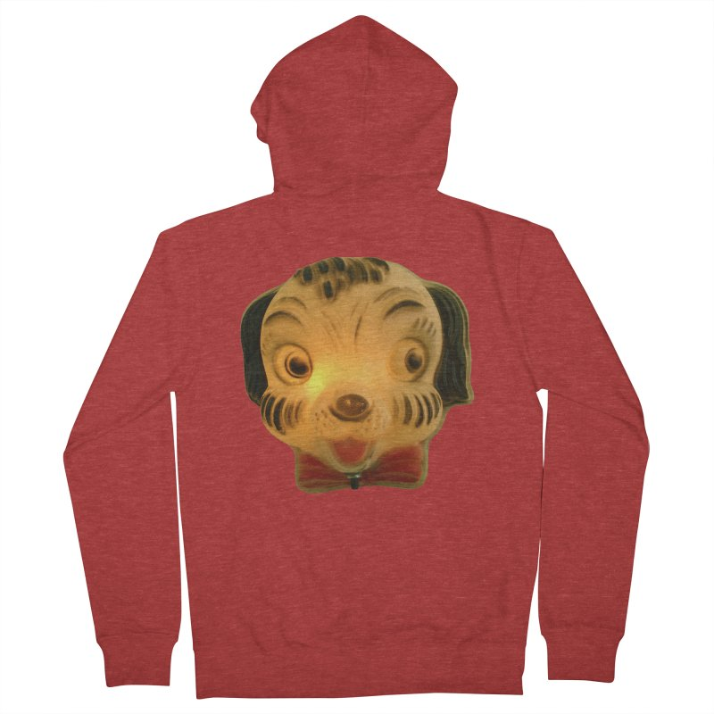 Puppy Head Men's French Terry Zip-Up Hoody by Dave Calver's Shop