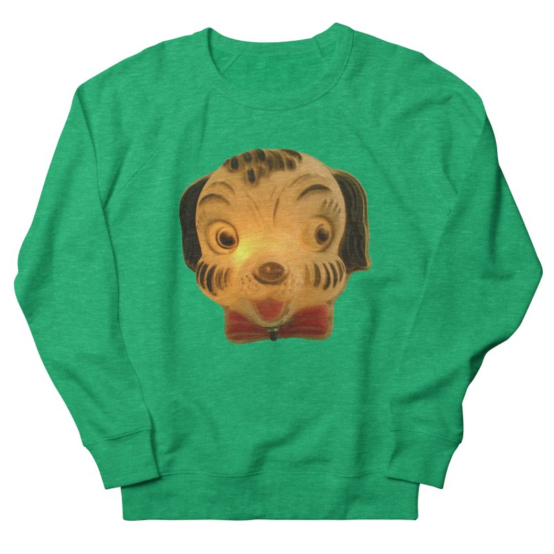Puppy Head Men's French Terry Sweatshirt by Dave Calver's Shop