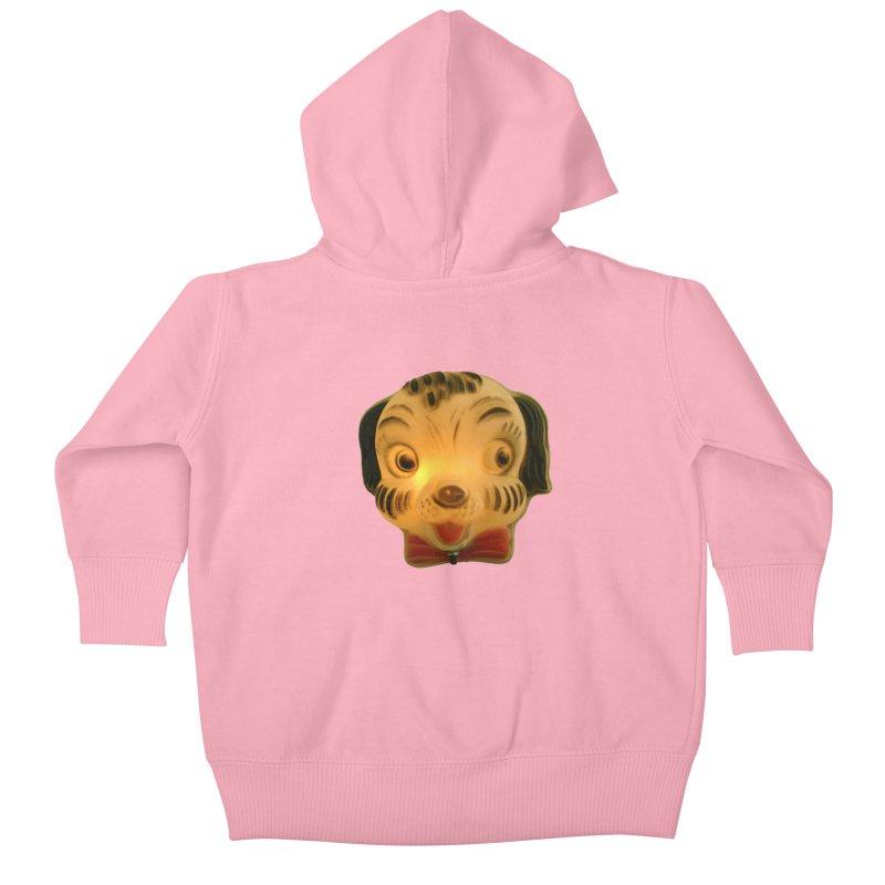 Puppy Head Kids Baby Zip-Up Hoody by Dave Calver's Shop