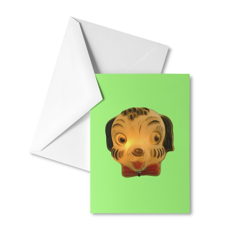 Puppy Head Accessories Greeting Card by Dave Calver's Shop
