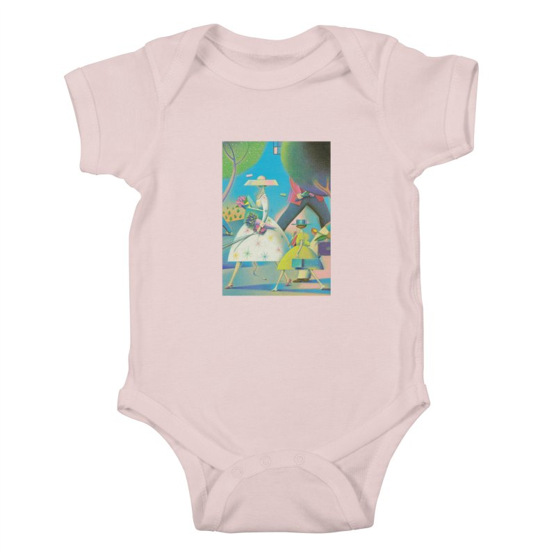 Mother And Daughter Kids Baby Bodysuit by Dave Calver's Shop