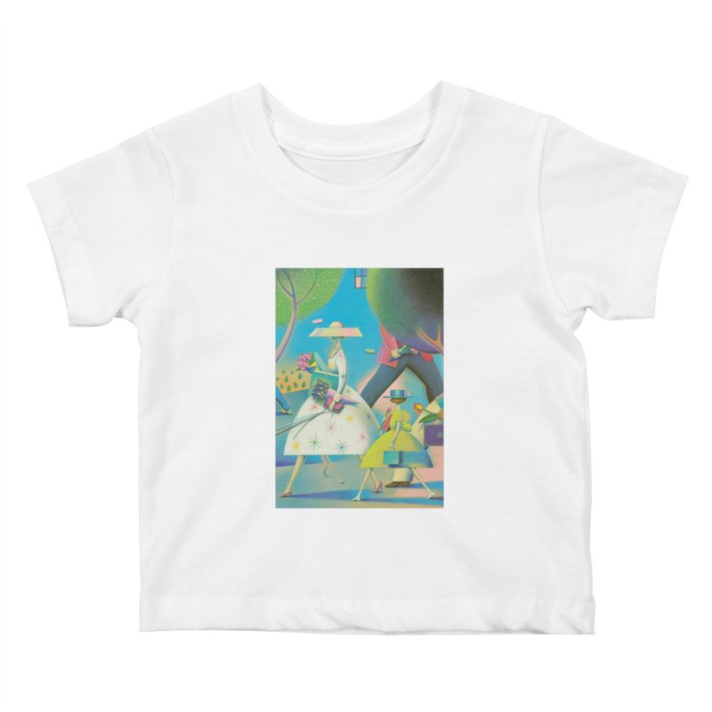 Mother And Daughter Kids Baby T-Shirt by Dave Calver's Shop